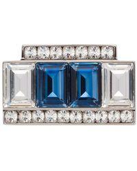 Miu Miu Broche Verfraaid Met Kristallen - Blauw