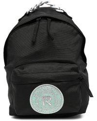 Raf Simons ロゴ バックパック - ブラック