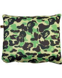 A Bathing Ape Abc 2way Neck Pillow - Green