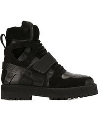 Hood By Air - Black Suede & Rubber Avalanche Boots - Lyst
