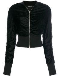 Andrea Ya'aqov - Front Zip Cropped Jacket - Lyst