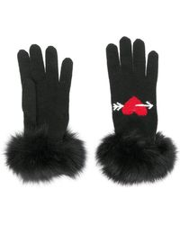 Boutique Moschino - Intarsia Heart Gloves - Lyst