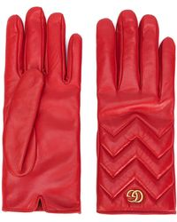 Gucci GG Marmont Gloves - Rood
