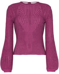 Chloé Tie Back Knitted Top - Purple