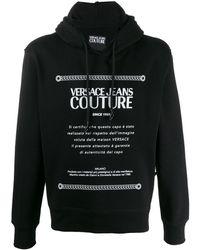Versace Jeans Etichetta Label パーカー - ブラック