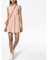 BATSHEVA Платье Мини Prairie С Оборками - Розовый