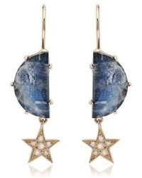 Andrea Fohrman - Crescent Diamond Earrings - Lyst