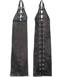 Manokhi - Lace Up Long Gloves - Lyst