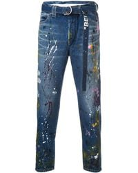 Off-White c/o Virgil Abloh Adjustable Waist Jeans - Blue