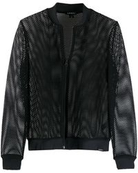 Koral シアー ボンバージャケット - ブラック