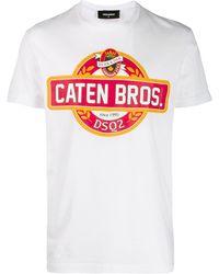 DSquared² - Caten Bros プリント Tシャツ - Lyst