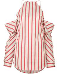 Christopher Esber - Striped Collapsed Sleeve Top - Lyst