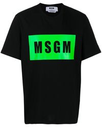 MSGM - ロゴ Tシャツ - Lyst
