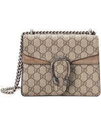 Gucci Dionysus GG Supreme Mini Tas - Naturel