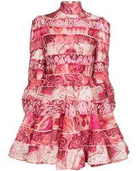 Zimmermann Robe imprimée Ika - Rose