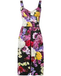 072f1d8f Dolce & Gabbana - Front Pleat Fitted Dress - Lyst