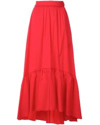 FEDERICA TOSI - Peplum Hem Maxi Dress - Lyst