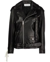 Monse レザーライダースジャケット - ブラック