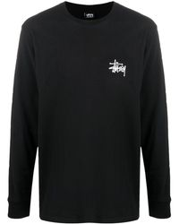 Stussy ロゴ スウェットシャツ - ブラック