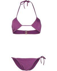 Chloé Logo Bikini Set - Purple
