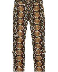 Burberry Skinny Fit Python Print Jeans - Brown