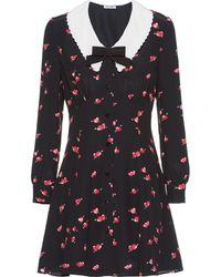 Miu Miu Vestido con estampado de corazones - Negro