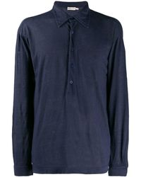 Giorgio Armani 1990's Longsleeved Polo Shirt - Blue