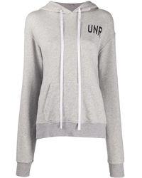 Unravel Project Худи С Длинными Рукавами И Логотипом - Серый