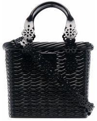 Viktor & Rolf X Melissa Basket Tote Bag - Black
