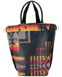 Sacai Pendleton Tote Bag