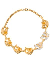 Marni Lily Chunky Necklace - Metallic