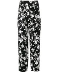 Lanvin - High-waisted Printed Trousers - Lyst