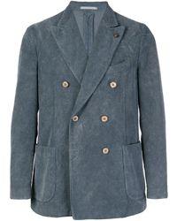 Gabriele Pasini Corduroy Double Breasted Blazer - Gray