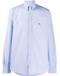 Etro Striped button-down shirt - Blu