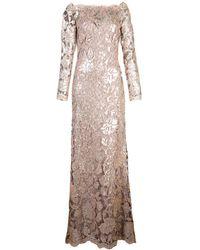 Tadashi Shoji Off The Shoulder Lace Dress - Pink