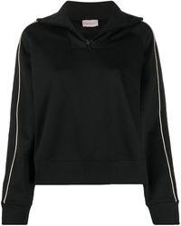 Moncler ジップ スウェットシャツ - ブラック