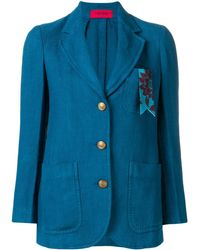 The Gigi スリムフィット ジャケット - ブルー