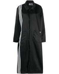 adidas ストライプトリム コート - ブラック