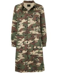 Hysteric Glamour - Camo Print Coat - Lyst