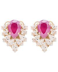 Anton Heunis Jamie Crystal Earrings - Pink