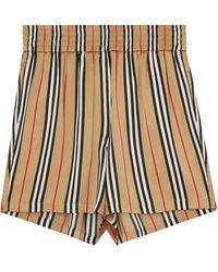 Burberry Icon Stripe Shorts - Brown