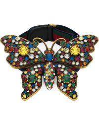 Gucci Crystal Studded Butterfly Bracelet - Meerkleurig