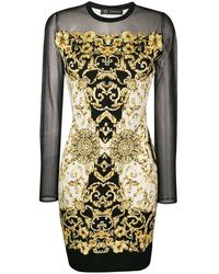 Versace - Baroque Print Dress - Lyst