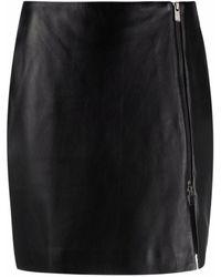 Arma Off-centre Zip Skirt - Black