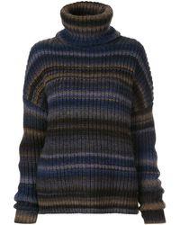 Altuzarra Jersey Kelley a rayas con cuello alto - Azul