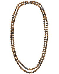 Tateossian Mesh Beaded Necklace - Brown