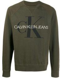 Calvin Klein Sudadera con logo estampado - Verde