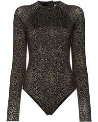The Upside Maya Leopard-print Paddle Suit - Green