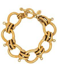 Brinker & Eliza Gold Tone Knotted Bracelet - Metallic