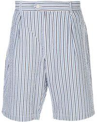Engineered Garments ストライプ ショートパンツ - ブルー